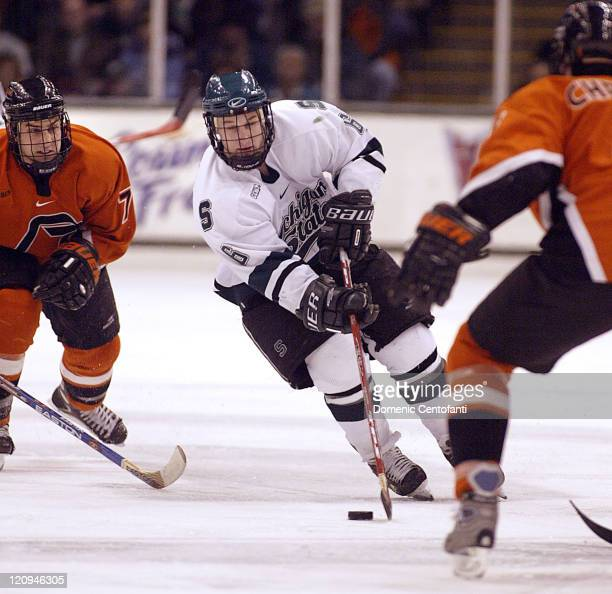 Tom Goebel of Michigan State during a game against Bowling Green at Munn Ice Arena on February 26 2005 Michigan State won the game 63