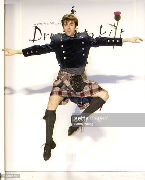 Tom Gold NYC Ballet during Johnnie Walker Presents Dressed to Kilt Runway Show at Synod House at St John the Divine Cathedral Garden in New York City...