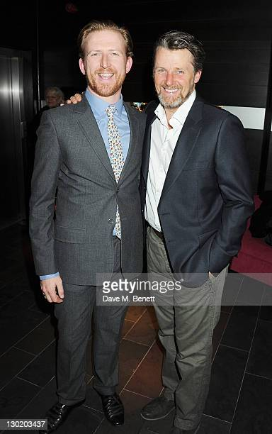 Tom GoodmanHill and Anthony Calf attend an after party celebrating Press Night of 'Death And The Maiden' at Mint Leaf Restaurant Bar on October 24...