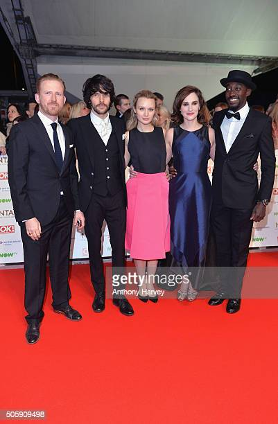Tom GoodmanHill Colin Morgan Emily Berrington Ruth Bradley and Ivanno Jeremiah of 'Humans' attend the 21st National Television Awards at The O2 Arena...