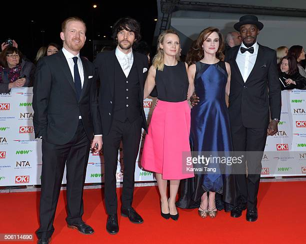 Tom GoodmanHill Colin Morgan Emily Berrington Ruth Bradley and Ivanno Jeremiah attend the 21st National Television Awards at The O2 Arena on January...