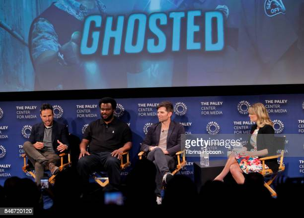 Tom Gormican Craig Robinson Adam Scott and Laura Prudom attend The Paley Center for Media's 11th annual PaleyFest Fall TV previews for FOX at The...