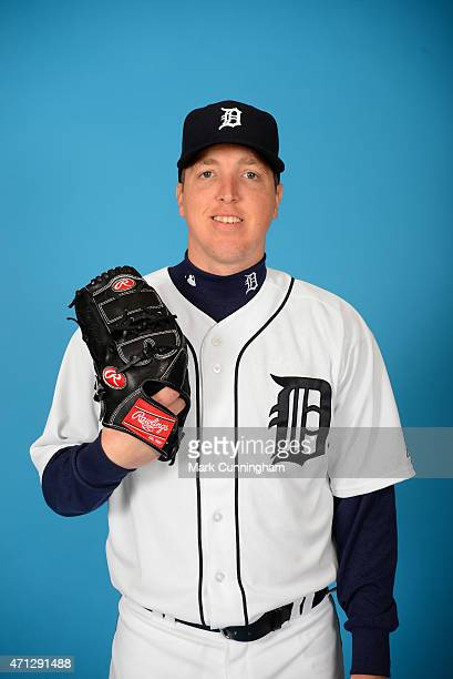 Tom Gorzelanny of the Detroit Tigers poses for a photo during the Tigers' photo day on February 28 2015 at Joker Marchant Stadium in Lakeland Florida