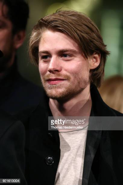 Tom Gramenz attends the 'The Silent Revolution' premiere during the 68th Berlinale International Film Festival Berlin at Friedrichstadtpalast on...