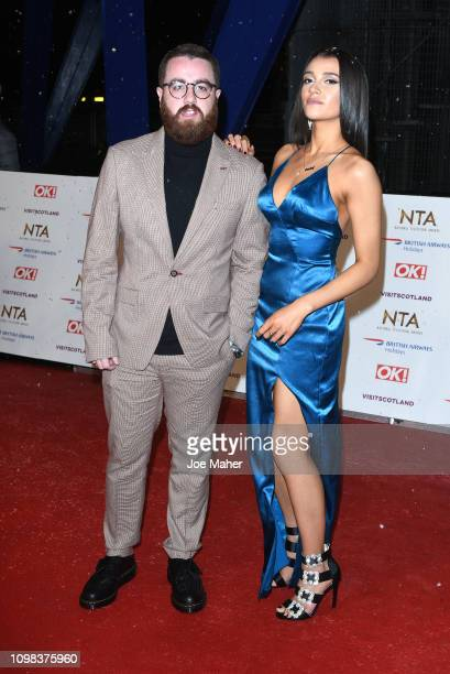 Tom Green and Daisy Maskell attend the National Television Awards held at The O2 Arena on January 22 2019 in London England