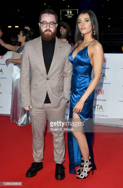 Tom Green and Daisy Maskell attend the National Television Awards sheld at the O2 Arena on January 22 2019 in London England