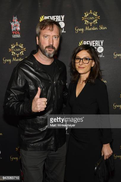 Tom Green and Leah Tiscione attend the 18th Annual International Beverly Hills Film Festival Opening Night Gala Premiere of Benjamin at TCL Chinese 6...