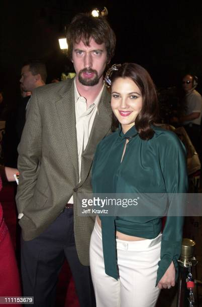 Tom Green Drew Barrymore during 'Charlie's Angels' Premiere in Hollywood California United States
