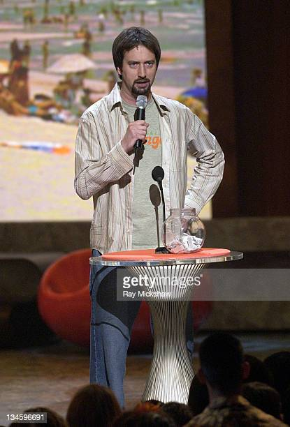 Tom Green intoduces TV Reality Greatest Moments during 2003 Teen Choice Awards Show at Universal Amphitheatre in Universal City California United...