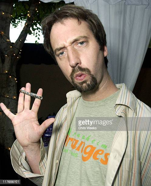 Tom Green visits Zoppini during 2003 Teen Choice Awards Backstage Creations Day of Show at Universal Amphitheatre in Universal City California United...