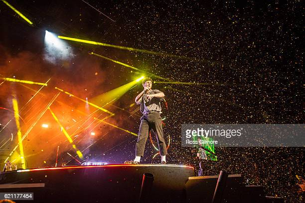 Tom Grennan performs with Chase and Status at the MOBO Awards show at The SSE Hydro on November 4 2016 in Glasgow Scotland