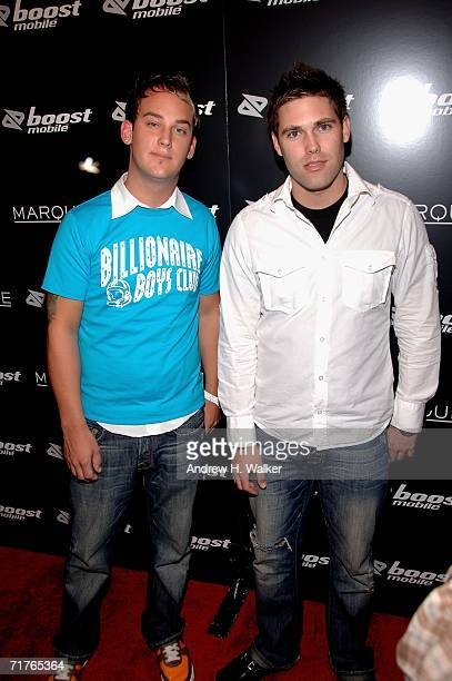 Tom Gryskiewicz and Matt Watts of The Starting Line attend the Virgin Records Boost Mobile VMA Post Party at Marquee August 31 2006 in New York City