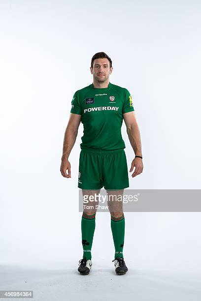 Tom Guest of London Irish poses for a picture during the BT PhotoShoot at Sunbury Training Ground on August 27 2014 in Sunbury England