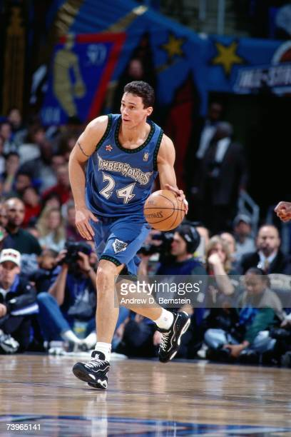 Tom Gugliotta of the Western Conference dribbles during the 1997 AllStar Game on February 9 1997 at Gund Arena in Cleveland Ohio NOTE TO USER User...