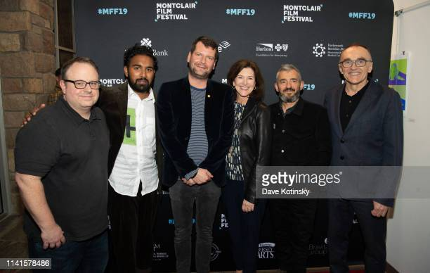 Tom Hall Actor Himesh Patel Luke Parker Bowles Evelyn McGeeColbert and Film director Danny Boyle attend the screening of Yesterday at the 2019...