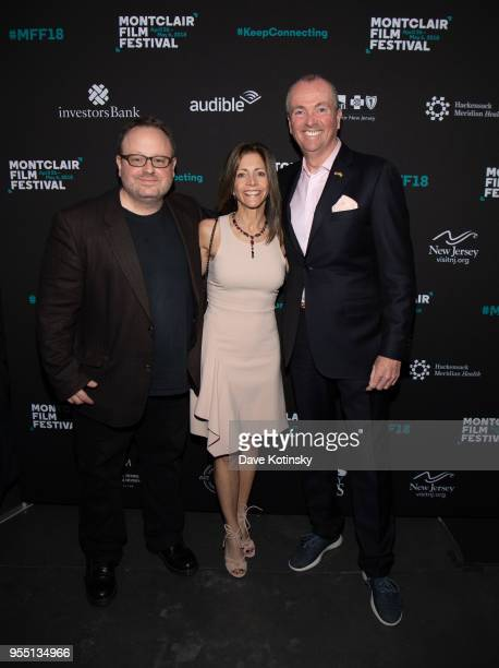 Tom Hall, New jersey Governor Phil Murphy and his wife First Lady Tammy Murphy attend the Montclair Film Festival on May 5, 2018 in Montclair, NJ.