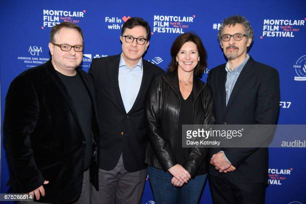 Tom Hall Stephen Colbert Evelyn Cobert and John Turturro arrive at Conversation Series Discussion at the Montclair Film Festival 2017 Day Three on...