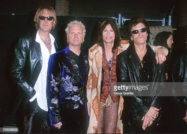 Tom Hamilton Joey Kramer Steven Tyler and Joe Perry of Aerosmith