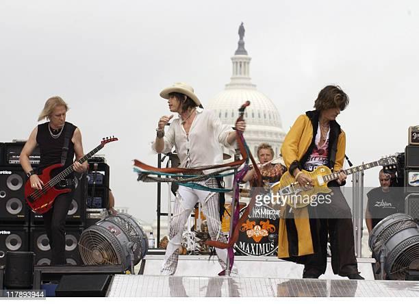 Tom Hamiton Steven Tyler Joey Kramer and Joe Perry of Aerosmith