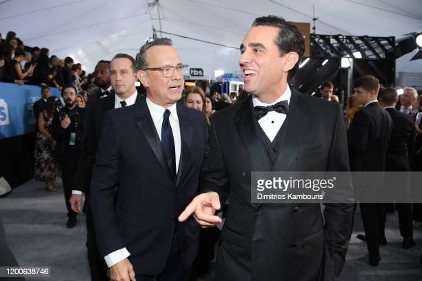 Tom Hanks and Bobby Cannavale attend the 26th Annual Screen Actors Guild Awards at The Shrine Auditorium on January 19 2020 in Los Angeles California...