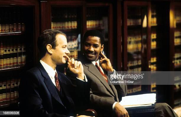 Tom Hanks and Denzel Washington in a scene from the film 'Philadelphia' 1994