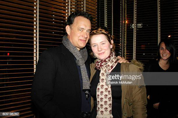 Tom Hanks and Elizabeth Hanks attend Dinner Party for the Tastemaker Screening of STARTER FOR 10 at Odeon on February 13 2007 in New York City