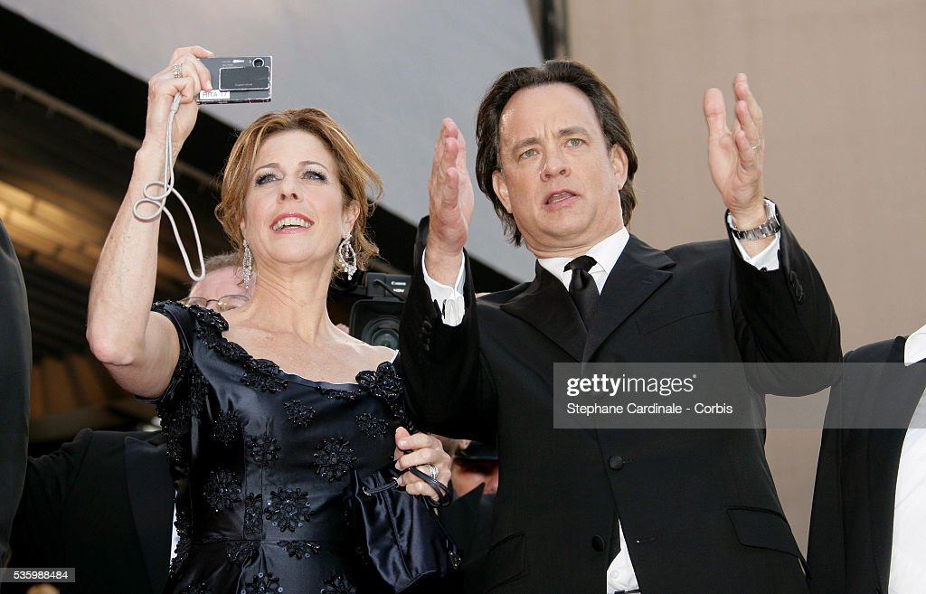 Tom Hanks and his wife at the premiere of 'The Da Vinci Code' during the 59th Cannes Film Festival.