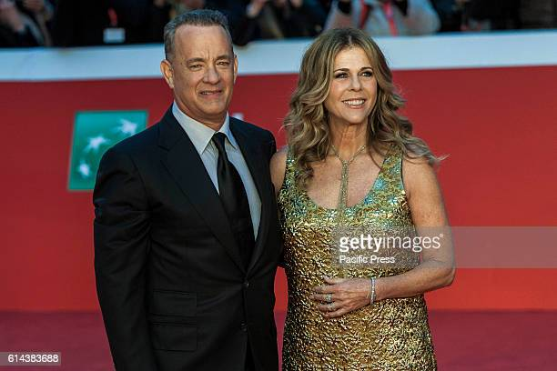 Tom Hanks and his wife Rita Wilson attend the red carpet during the 11th International Rome Film Festival The 11th Rome Film Festival will be held...