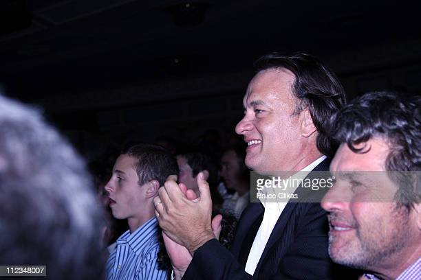 """Tom Hanks and Jann Wenner during Rita Wilson Makes Her Broadway Debut in """"Chicago"""" The Musical at The Ambassador Theater in New York City, New York,..."""