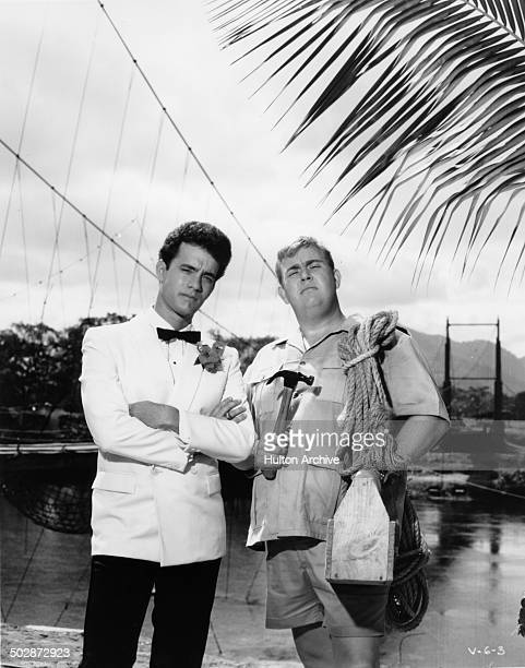 Tom Hanks and John Candy posefor the TriStar Pictures movie Volunteers circa 1984