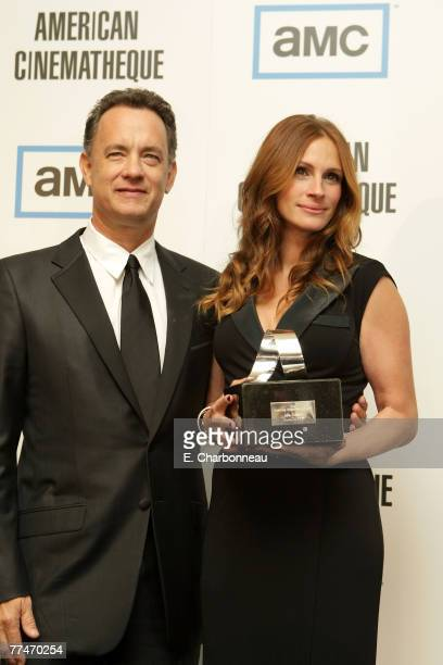 Tom Hanks and Julia Roberts at The 22nd Annual American Cinematheque Award at the Beverly Hilton Hotel on October 12 2007 in Beverly Hills California
