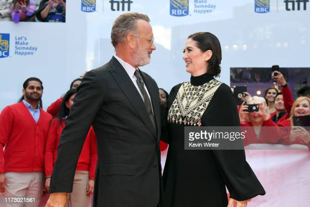 Tom Hanks and Marielle Heller attend the A Beautiful Day In The Neighborhood premiere during the 2019 Toronto International Film Festival at Roy...