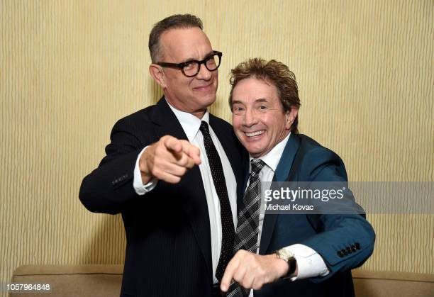 Tom Hanks and Martin Short attend the Ambassadors For Humanity Gala Benefiting USC Shoah Foundation Honoring Rita Wilson And Tom Hanks at The Beverly...