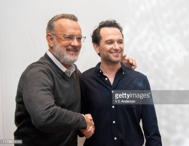Tom Hanks and Matthew Rhys at A Beautiful Day In The Neighborhood Press Conference at the Fairmont Royal York on September 08 2019 in Toronto Canada