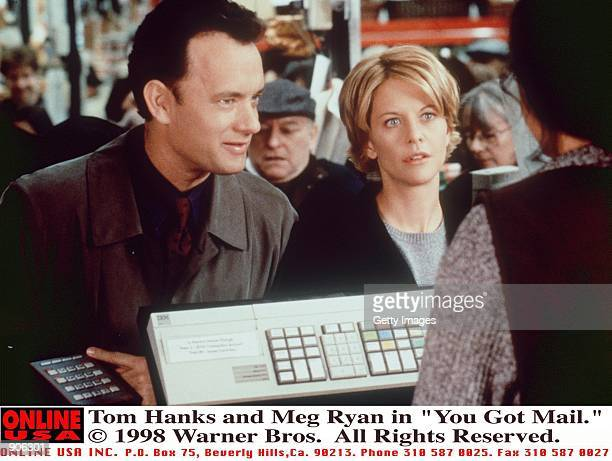 Tom Hanks and Meg Ryan in a scene from You''ve Got Mail
