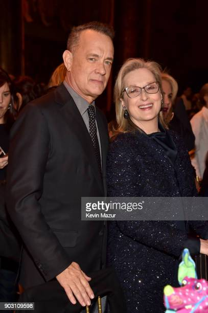 Tom Hanks and Meryl Streep attend the National Board of Review Annual Awards Gala at Cipriani 42nd Street on January 9 2018 in New York City