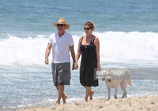 Tom Hanks and Rita Wilson are seen in Malibu on July 05 2014 in Los Angeles California