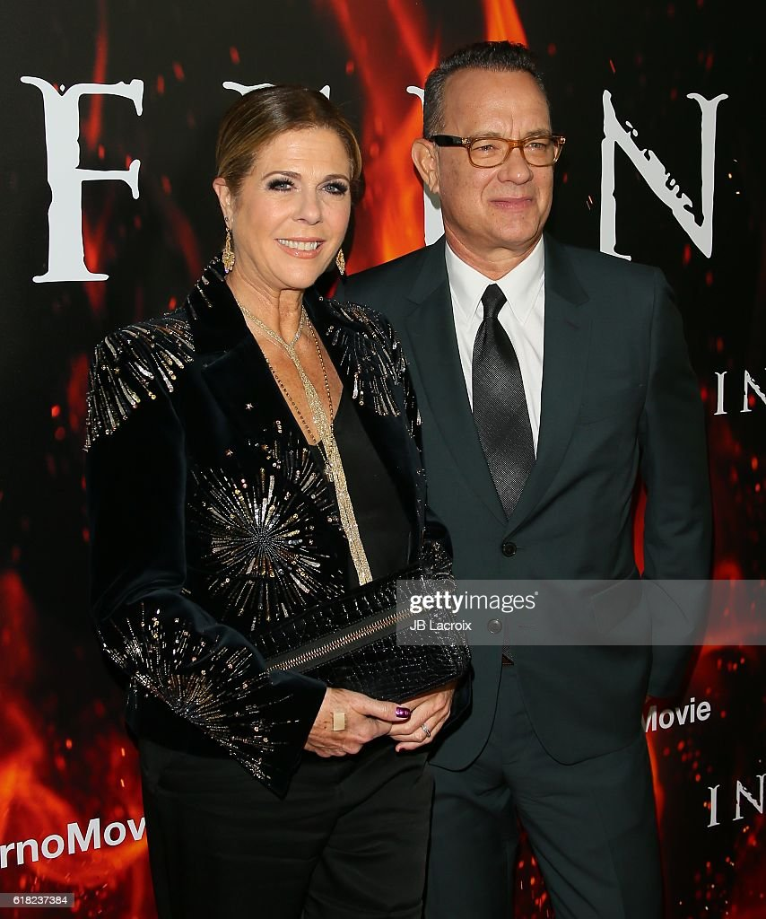 Tom Hanks and Rita Wilson arrive at the screening of Sony Pictures Releasing's 'Inferno' at DGA Theater on October 25, 2016 in Los Angeles, California.
