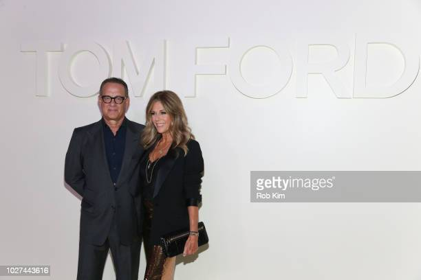 Tom Hanks and Rita Wilson arrive for Tom Ford SS19 fashion show at Park Avenue Armory on September 5 2018 in New York City