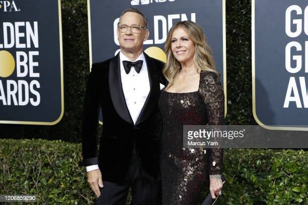 Tom Hanks and Rita Wilson arriving at the 77th Golden Globe Awards at the Beverly Hilton on January 05 2020
