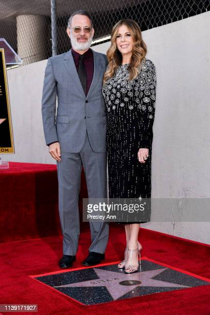 Tom Hanks and Rita Wilson attend Rita Wilson's Star Ceremony on the Hollywood Walk Of Fame on March 29 2019 in Hollywood California