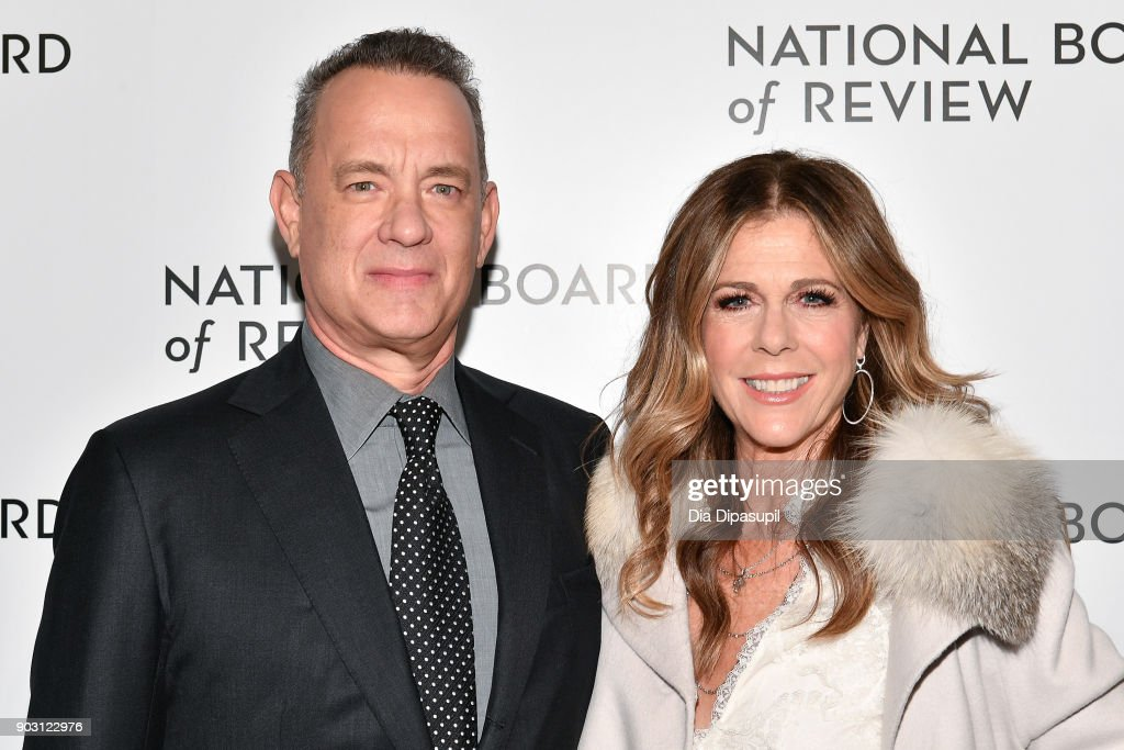 Tom Hanks (L) and Rita Wilson attend the 2018 National Board of Review Awards Gala at Cipriani 42nd Street on January 9, 2018 in New York City.