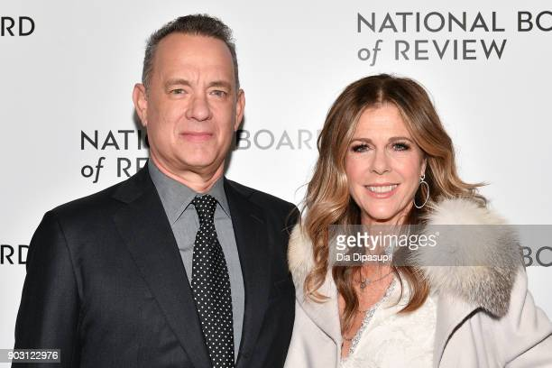 Tom Hanks and Rita Wilson attend the 2018 National Board of Review Awards Gala at Cipriani 42nd Street on January 9 2018 in New York City