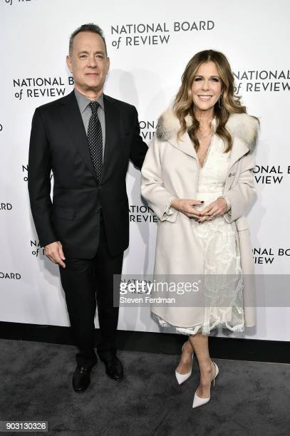 Tom Hanks and Rita Wilson attend the 2018 The National Board Of Review Annual Awards Gala at Cipriani 42nd Street on January 9 2018 in New York City