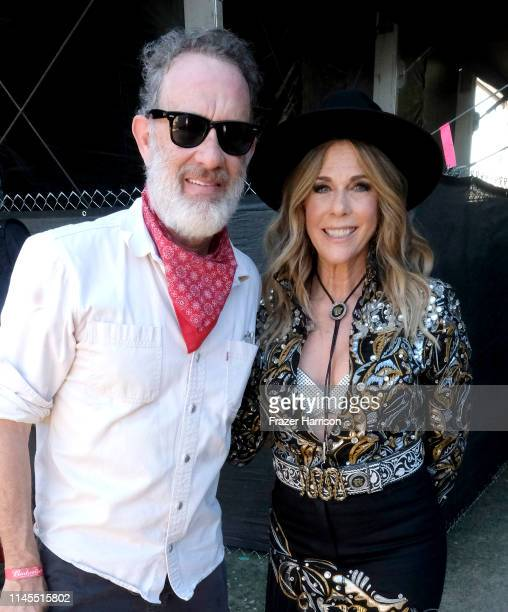 Tom Hanks and Rita Wilson attend the 2019 Stagecoach Festival at Empire Polo Field on April 27 2019 in Indio California