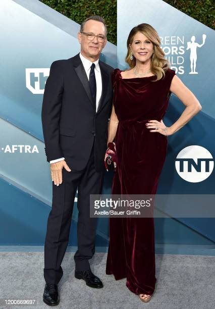 Tom Hanks and Rita Wilson attend the 26th Annual Screen Actors Guild Awards at The Shrine Auditorium on January 19 2020 in Los Angeles California