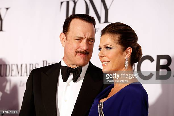 Tom Hanks and Rita Wilson attend The 67th Annual Tony Awards at Radio City Music Hall on June 9 2013 in New York City