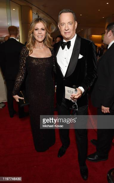 Tom Hanks and Rita Wilson attend the 77th Annual Golden Globe Awards at The Beverly Hilton Hotel on January 05 2020 in Beverly Hills California