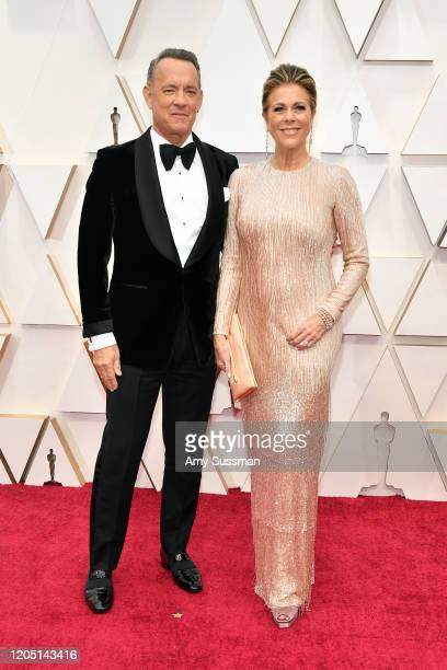 Tom Hanks and Rita Wilson attend the 92nd Annual Academy Awards at Hollywood and Highland on February 09 2020 in Hollywood California