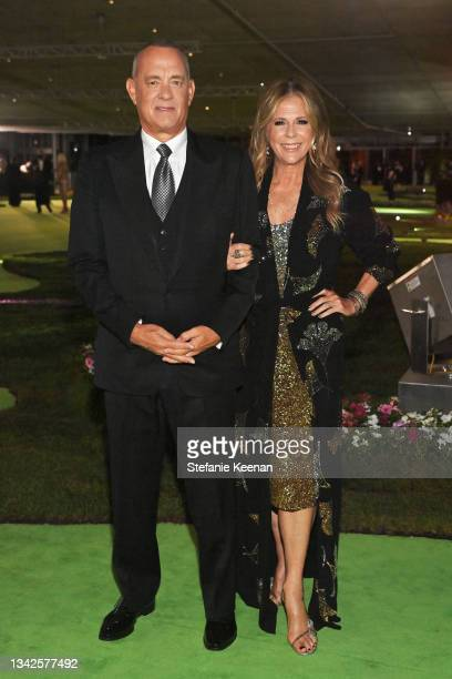 Tom Hanks and Rita Wilson attend the Academy Museum of Motion Pictures: Opening Gala honoring Haile Gerima and Sophia Loren, and Museum Campaign...